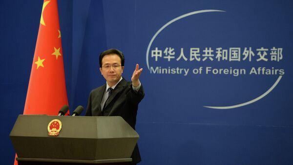 Oficiální mluvčí čínského ministerstva zahraničních věcí Hong Lei - Sputnik Česká republika