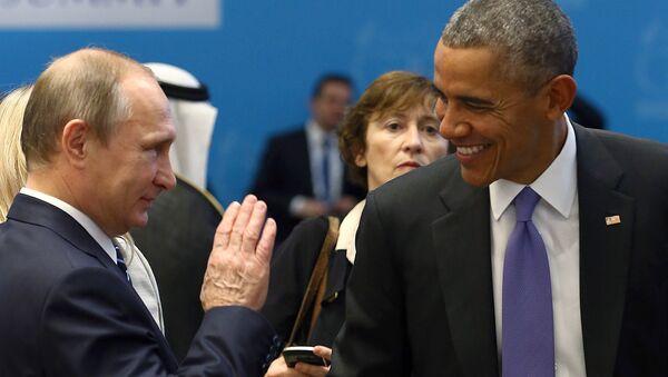 Prezident USA Barack Obama a ruský prezident Vladimir Putin - Sputnik Česká republika