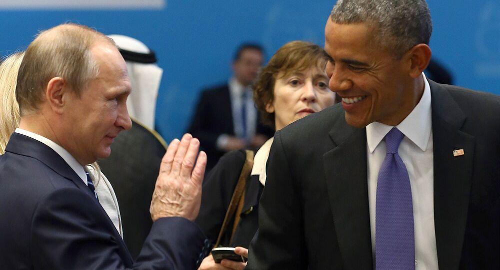 Prezident USA Barack Obama a ruský prezident Vladimir Putin