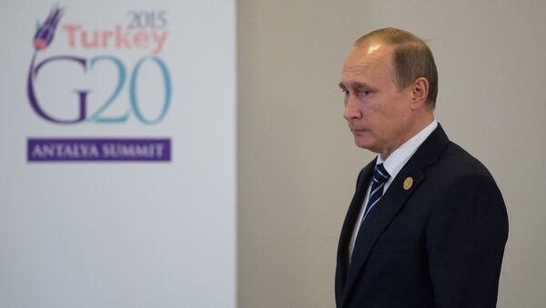 Ruský prezident Vladimir Putin na summitu v Turecku - Sputnik Česká republika