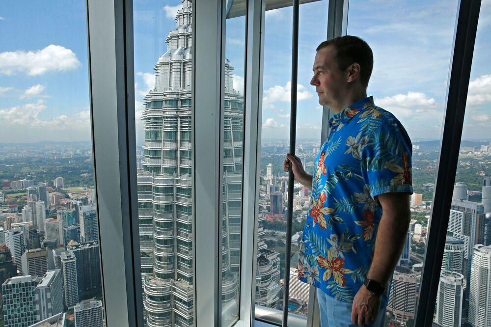 Dmitrij Medveděv na summitu v Malajsii