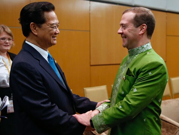 Dmitrij Medveděv na summitu v Malajsii - Sputnik Česká republika