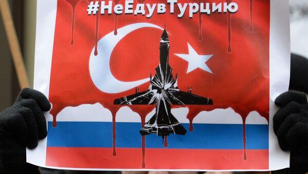 Nápis na plakátu zní #NeJedudoTurecka - Sputnik Česká republika