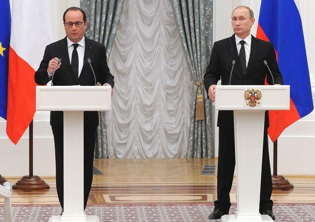 Francois Hollande a Vladimir Putin