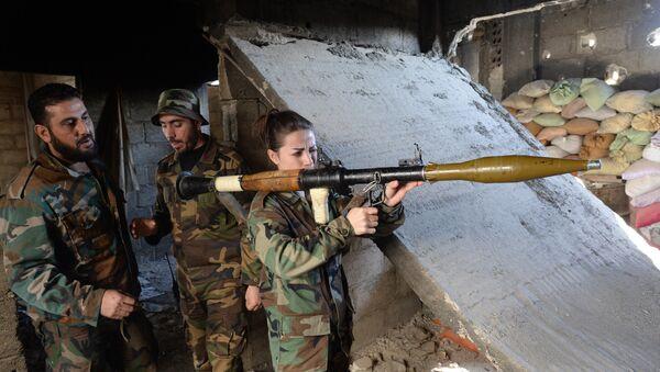Příslušníci syrské armády - Sputnik Česká republika