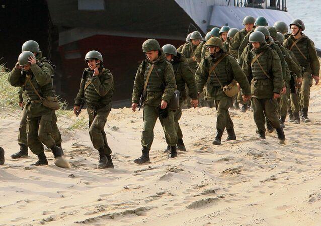"""Jednotky námořních pěšáků působí ve všech flotilách Ruska. V letech Velké vlastenecké války říkali nepřátelé námořním pěšákům """"černá smrt"""""""