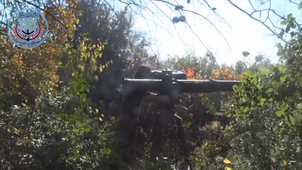 Ruští novináři se dostali v Sýrii pod palbu americké protitankové střely BGM-71 TOW - Sputnik Česká republika