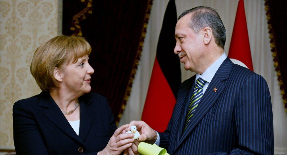 Angela Merkelová a Recep Tayyip Erdogan