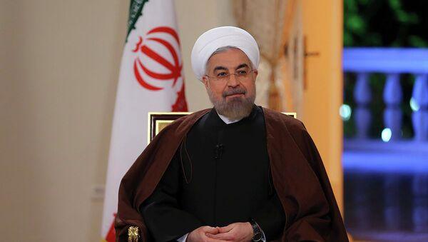 Iránský prezident Hasan Rúhání - Sputnik Česká republika