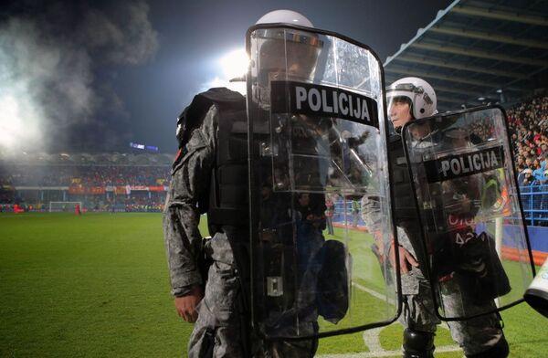 Policie během zápasu v Černé Hoře - Sputnik Česká republika