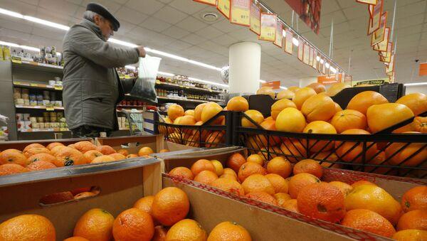 Prodej pomerančů v Moskvě - Sputnik Česká republika