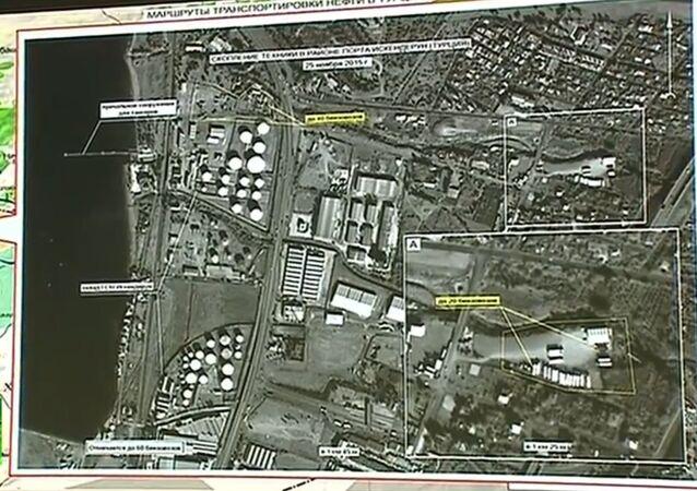 Brífink MO RF, cisterny na převoz benzínu vedle syrsko-turecké hranice