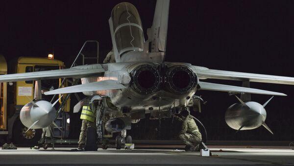 Britská stíhačka na letecké základně na Kypru - Sputnik Česká republika