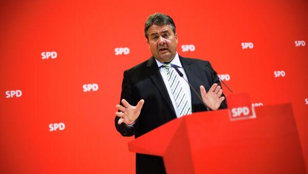 Ministr hospodářství a energetiky, německý vicekancléř Sigmar Gabriel - Sputnik Česká republika
