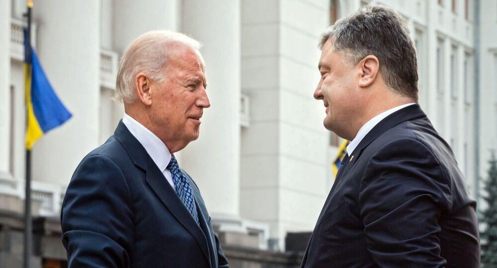 Joe Biden a Petro Porošenko