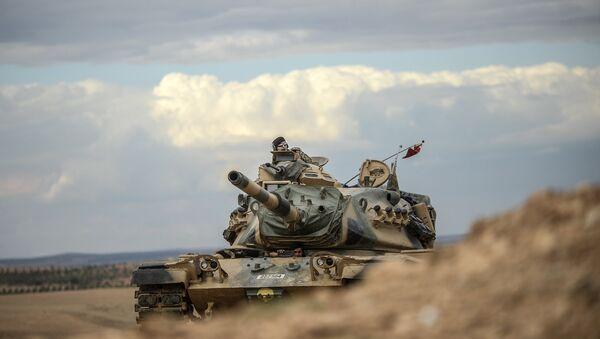 Turecký tank. Ilustrační foto - Sputnik Česká republika