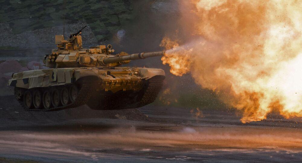 Tank T-90A na výstavě Russia Arms Expo