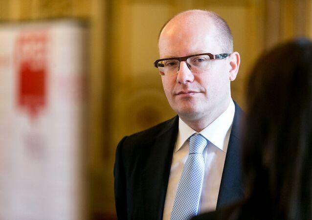 Předseda české vlády Bohuslav Sobotka