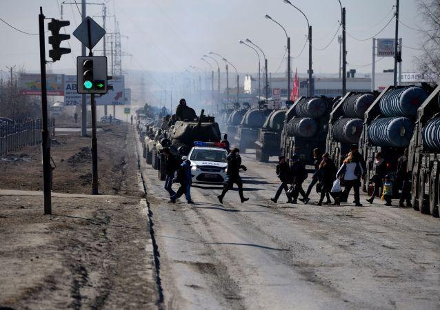 Zkouška přehlídky v Jekatěrinburgu