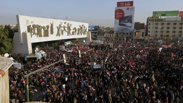 Protestní akce v Bagdádu - Sputnik Česká republika