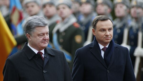 Petro Porošenko a Andrzej Duda - Sputnik Česká republika