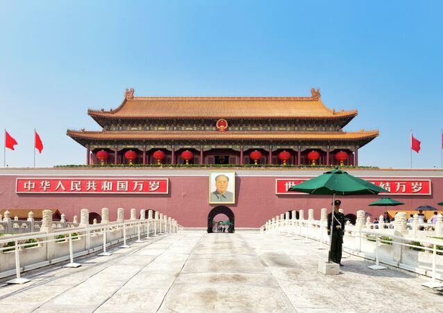Brána Nebeského klidu v čínském Pekingu
