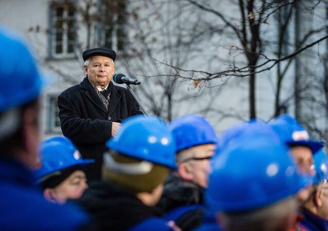 Jarosław Kaczyński, lídr pravicově radikální strany Právo a spravedlnost