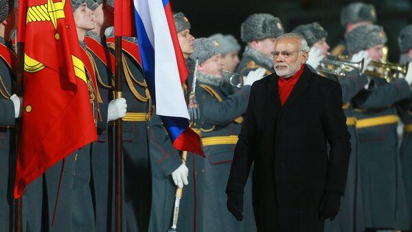 Indický premiér Nárendra Módí v Moskvě - Sputnik Česká republika