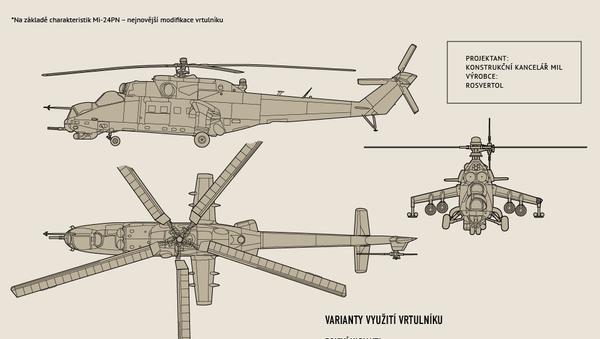 Víceúčelový útočný vrtulník Mi-24 - Sputnik Česká republika