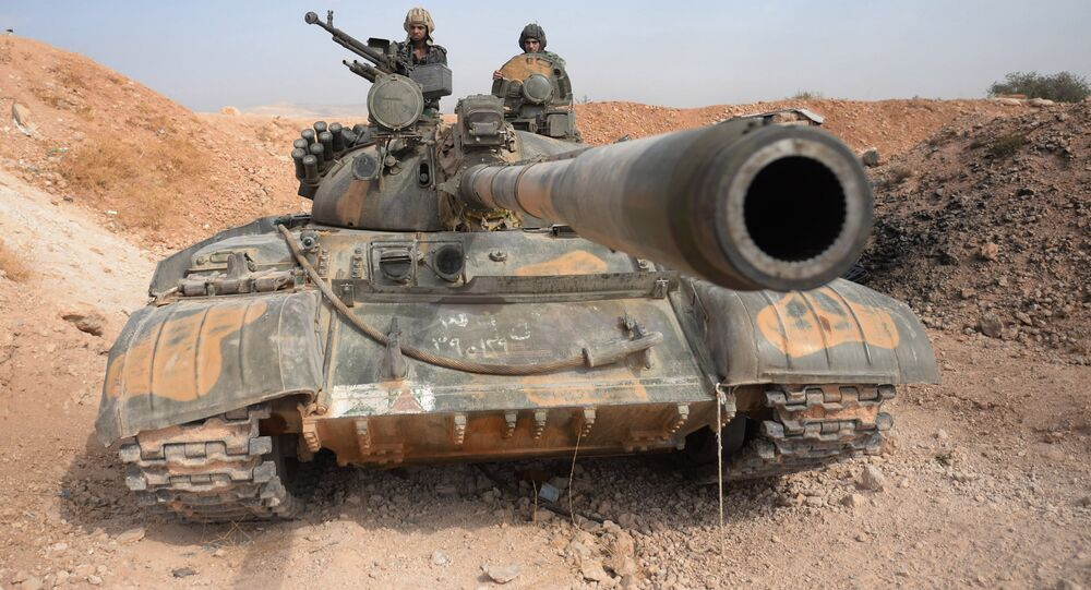 Tank T-55 v Sýrii