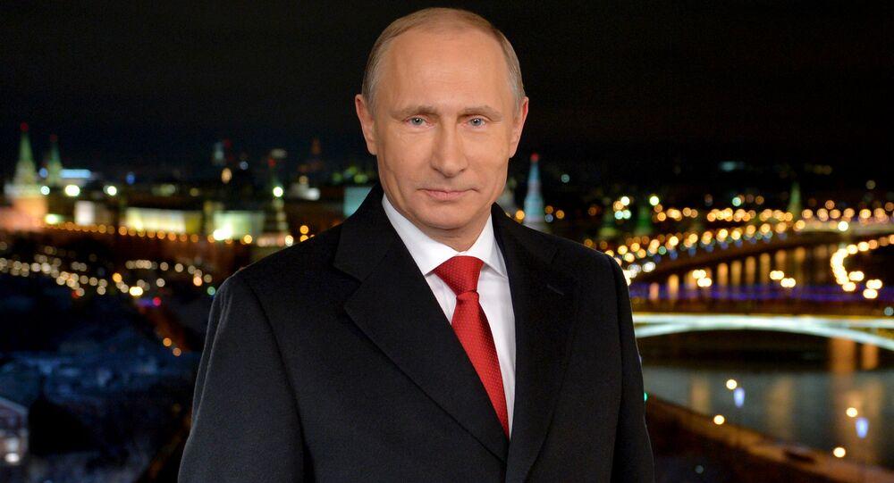 Tradiční novoroční projev Vladimira Putina