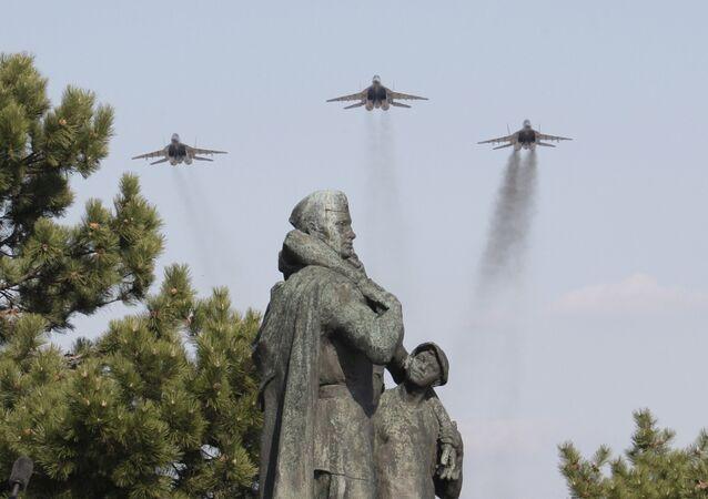 Pamětní hřbitov sovětských vojáků na Slavínu
