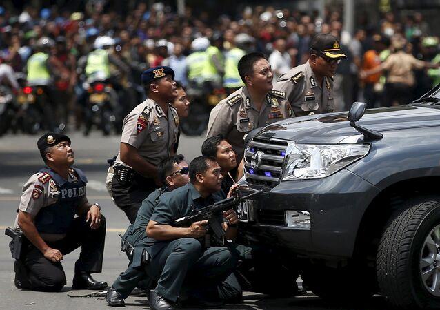 Policie v Jakartě
