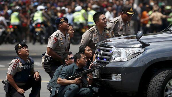 Policie v Jakartě - Sputnik Česká republika