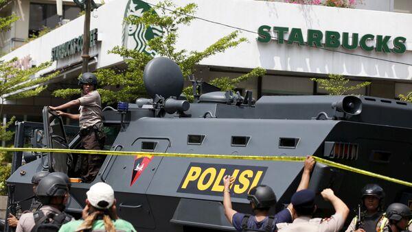 Výbuchy v Jakartě - Sputnik Česká republika