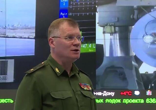 Oficiální mluvčí ruského ministerstva obrany, generálmajor Igor Konašenkov