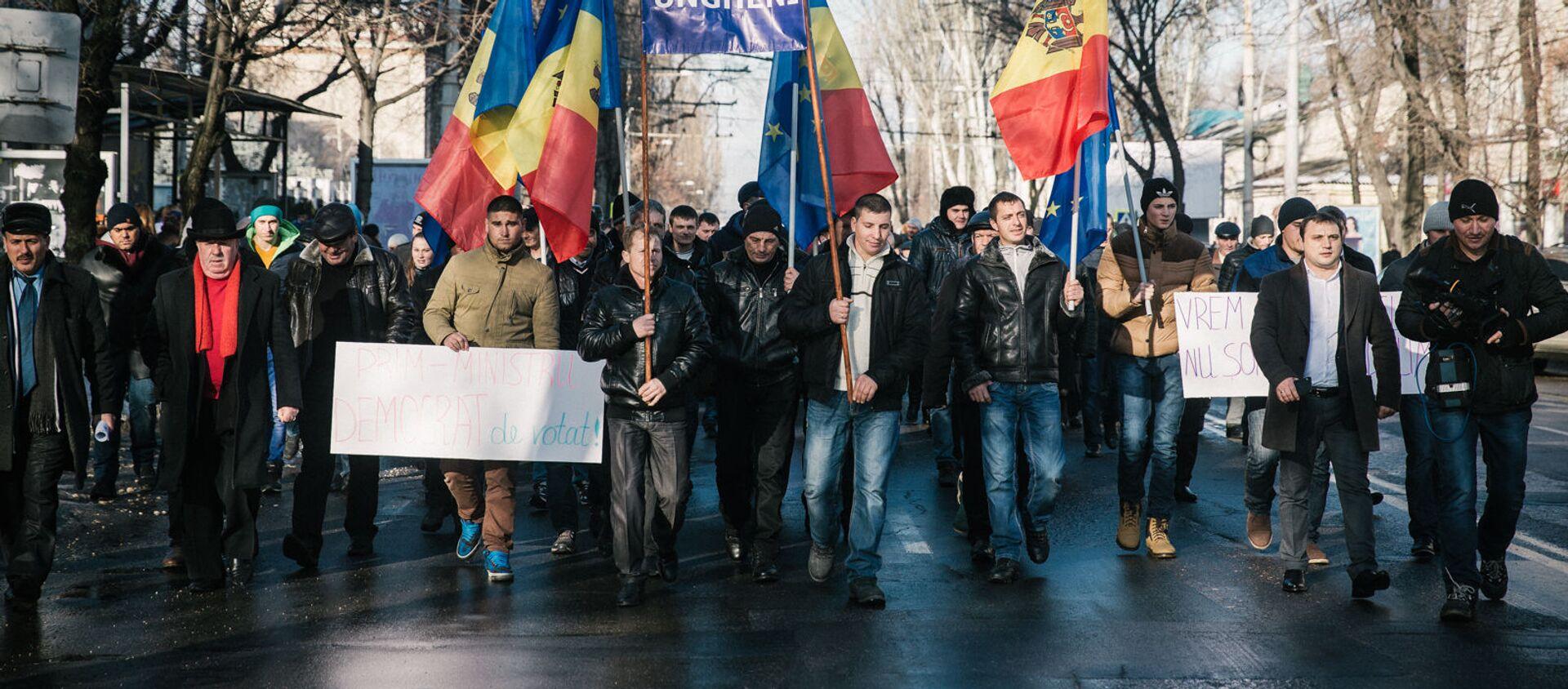 Protestní akce v Kišiněvě - Sputnik Česká republika, 1920, 05.12.2020