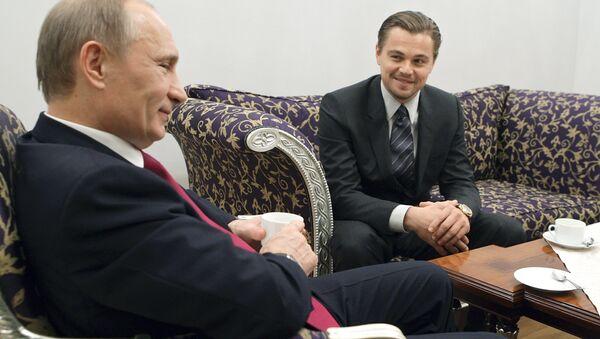 Setkání Vladimira Putina a Leonarda DiCapria v Petrohradu - Sputnik Česká republika