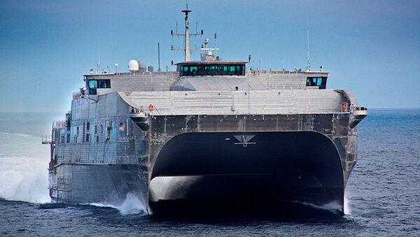 Rychlá expediční loď-katamarán (Expeditionary Fast Transport, EPF) - Sputnik Česká republika