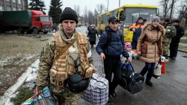 Ukrajinští běženci - Sputnik Česká republika