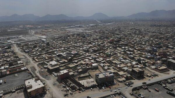 The skyline of Kabul is pictured during a helicopter flight from Kabul to Bagram Air Base for a prison handover ceremony on September 10, 2012 - Sputnik Česká republika