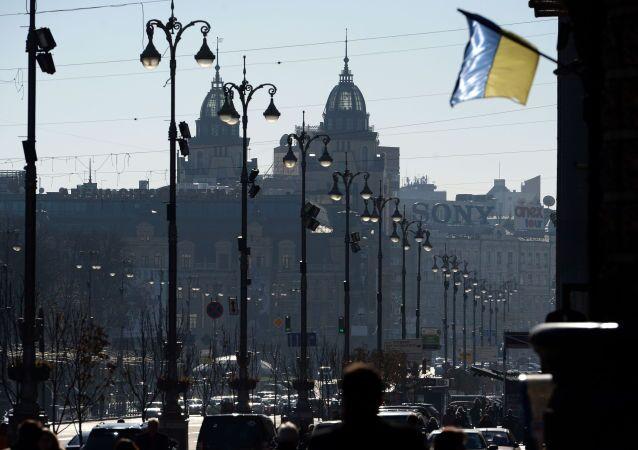 Ulice Kreščatik v Kyjevě