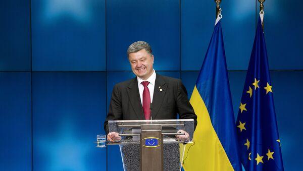 Ukrainský prezident Petro Porošenko - Sputnik Česká republika