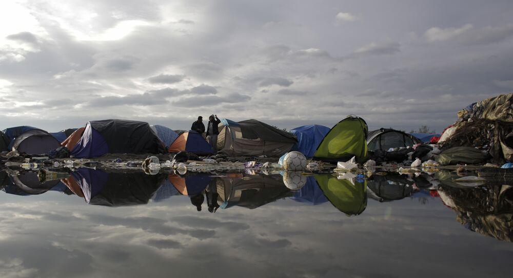 Tábor pro uprchlíky ve francouzském Calais