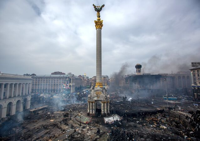 Majdanu Nezaležnosti (Náměstí nezávislosti) v Kyjevě