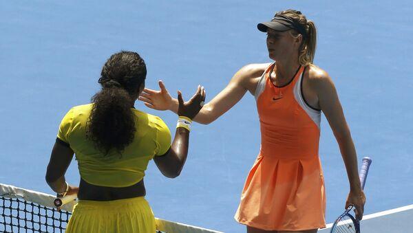 Serena Williamsová a Maria Šarapovová - Sputnik Česká republika