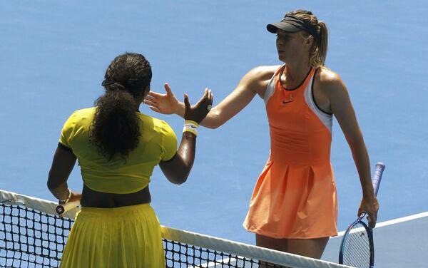 Serena Williamsová a Marija Šarapovová - Sputnik Česká republika