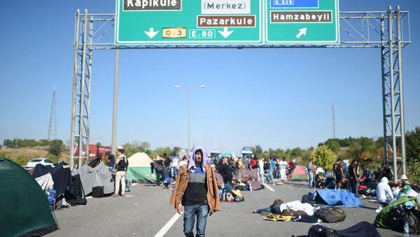 Migranti na řecko-turecké hranici - Sputnik Česká republika