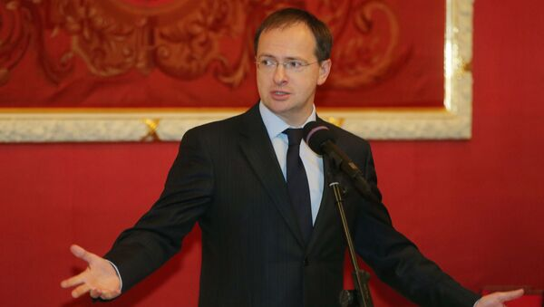 Ministr kultury Ruska Vladimir Medinskij - Sputnik Česká republika