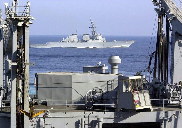 Americký torpédoborec USS Curtis Wilbur